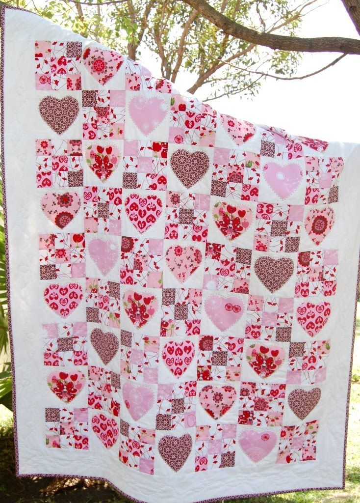 25+ Best Ideas about Heart Quilt Pattern on Pinterest Heart block, Heart quilts and Patchwork ...