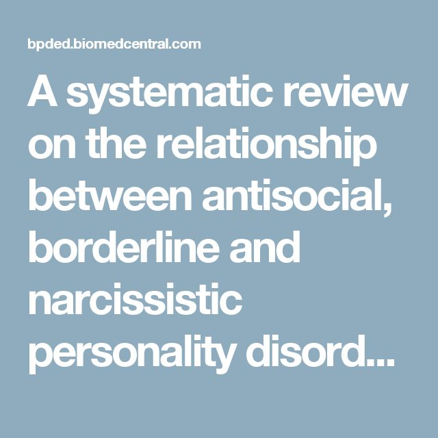 A systematic review on the relationship between antisocial, borderline and narcissistic personality disorder diagnostic traits and risk of violence to others in a clinical and forensic sample | Borderline Personality Disorder and Emotion Dysregulation | Full Text