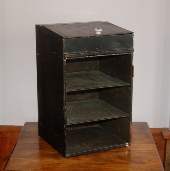 Vintage Industrial Storage Cabinet Antique by CobblestonesVintage