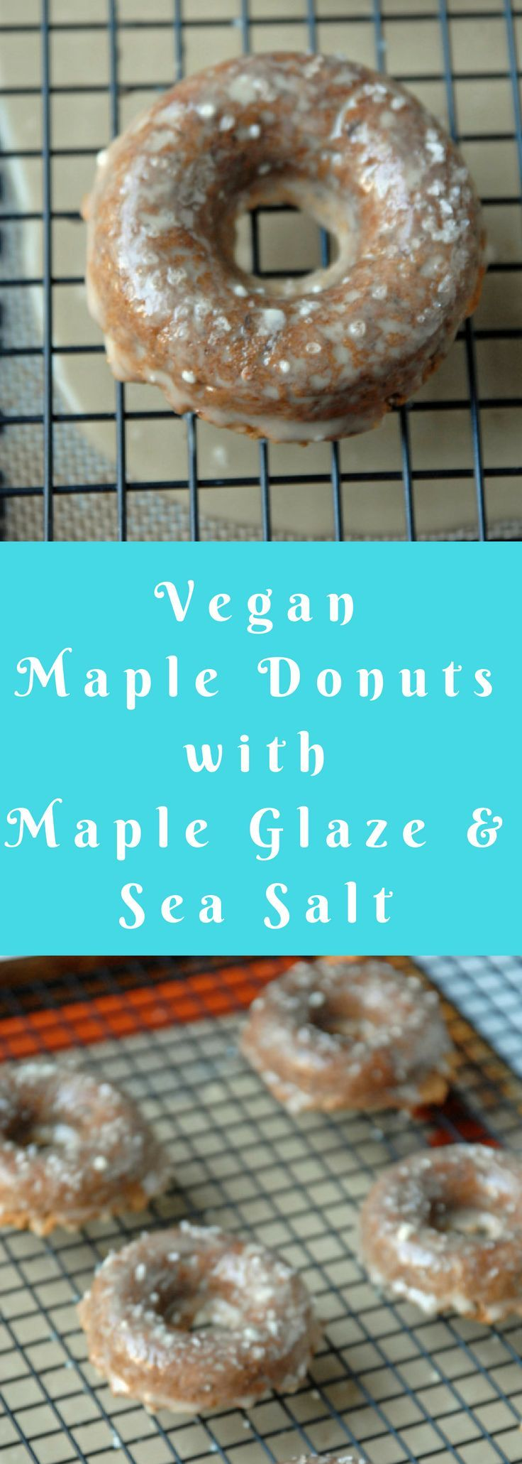 The sweet/salty combo in these vegan doughnuts I decided on trying out is perfectly matched.  Sometimes, maple-y things tend to be overly sweet, but the sea salt adds a nice balance to these, causing the sweetness to mellow out while still packing a sugary punch.