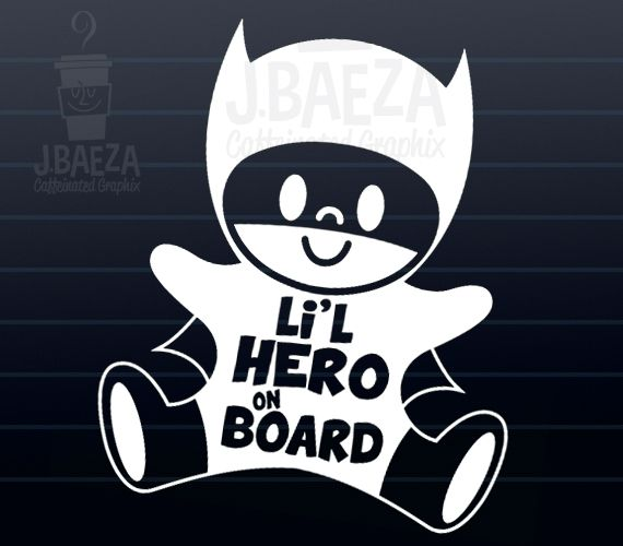 Baby on board car decals for the little superheroes in your life