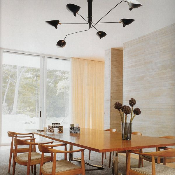 love this mid century modern dining room