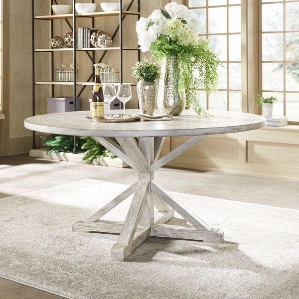 Shop Benchwright Rustic X Base 48 Inch Round Dining Table: Best 25+ Round Wood Dining Table Ideas On Pinterest