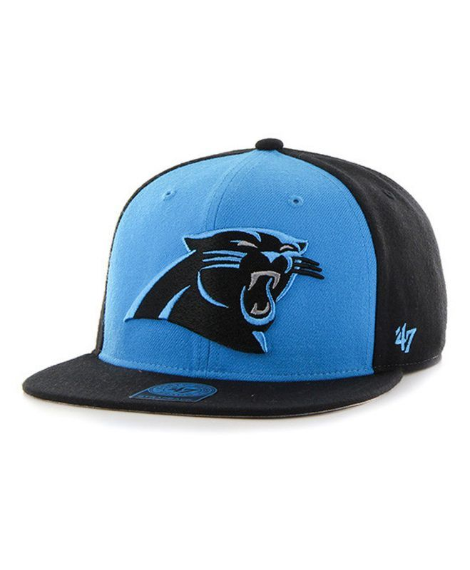 a0a4490efd2 Carolina Panthers Super Move Captain Black 47 Brand Adjustable Hat - Great  Prices And Fast Shipping at Detroit Game Gear