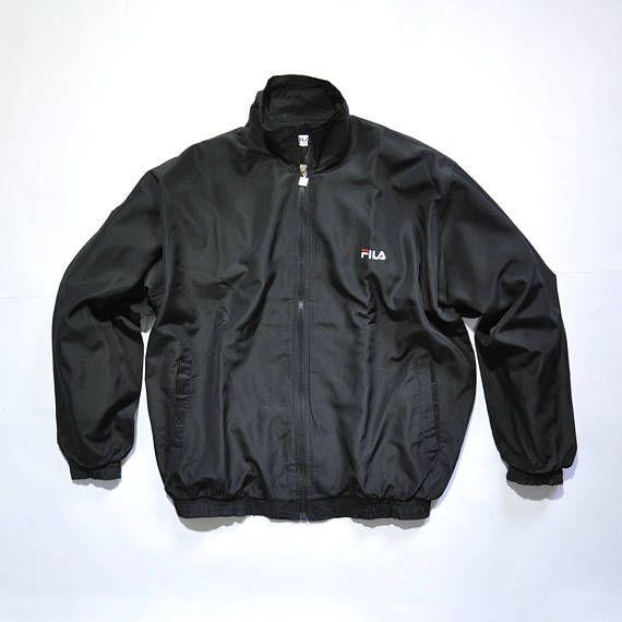 Vintage FIla Sail Tennis Windup Track Top Jacket 80s // 90s Fashion Outfits // Retro Streetwear // Windbreaker // Oldschool // men // women // unisex // Rare Clothing Clothes Items // varsity // bomber // style // etsy