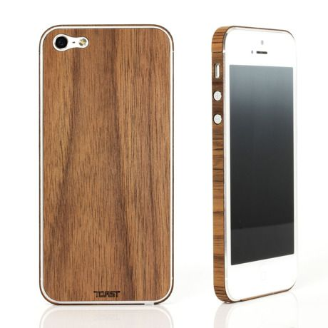 木材をレーザーカットで加工したiPhone 5/5sケース。 スタンダードなプレーンは素材そのものの魅力、木目の醸し出す深みを楽しめます。  装着はシールのように貼るだけでとても簡単 材料はウォールナット(クルミ)・ホワイトアッシュ・バンブー(竹)・エボニー(黒檀)からお選びください。