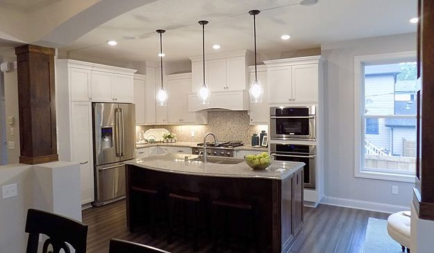 What if you did dark floors with light cabinets?  - DR Horton Homes  4208 BRANSON ST, EDINA - EMERALD HOMES