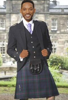 The Independence Day movie star Will Smith giving it some Fresh MacPrince has  the long legs to pull off a fetching kilt.