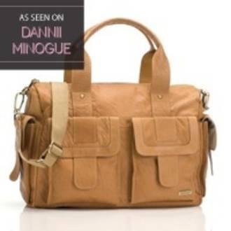Storksak Sofia Tan Leather Nappy Bag #pregolipregnancy