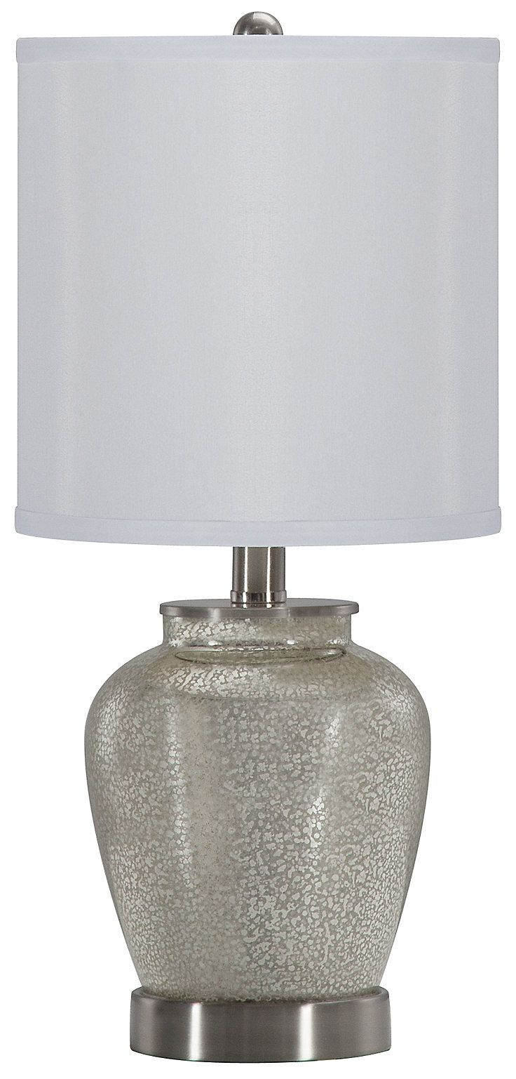 Silver lamp shades for table lamps - Bella Silver Table Lamp