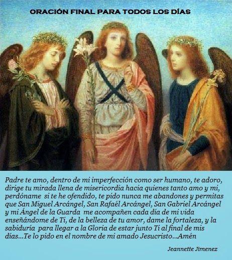 ORACIONES Y REFLEXIONES JEANNETTE JIMENEZ M.: NOVENA DE LOS TRES ARCÁNGELES SAN MIGUEL, SAN RAFAEL Y SAN GABRIEL