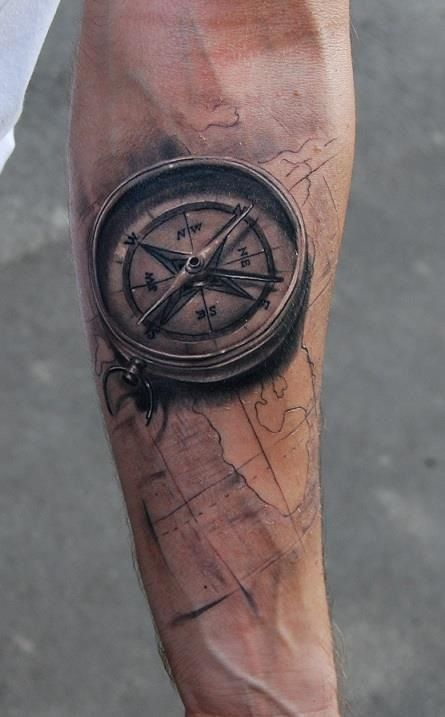 30 Creative Compass Tattoo Designs For Men | Amazing Tattoo Ideas