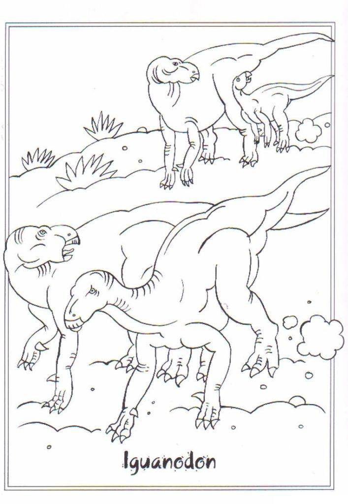 Dinosaur Coloring Pages Animal Rhpinterest: Iguanodon Dinosaur Coloring Pages At Baymontmadison.com