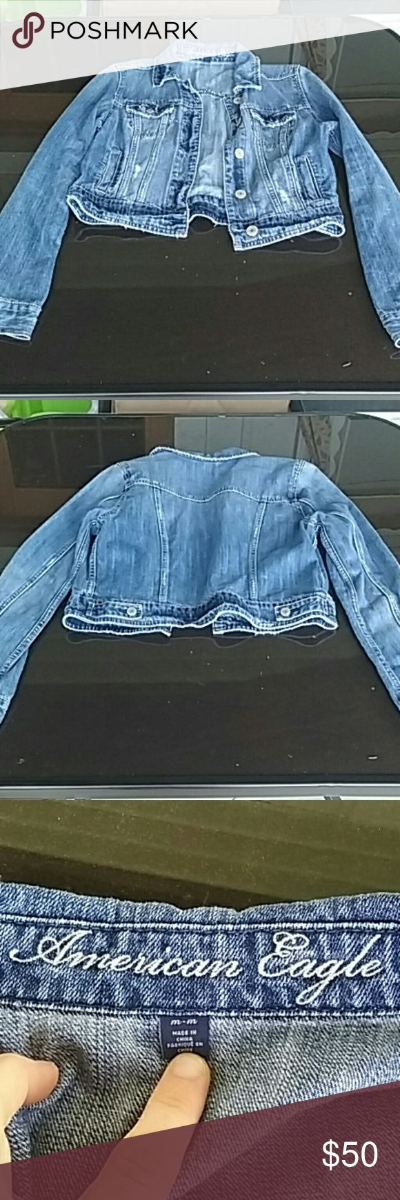 American eagle jean jacket Like new American Eagle Outfitters Jackets & Coats Jean Jackets