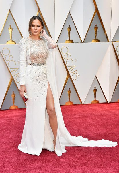 Model Chrissy Teigen attends the 89th Annual Academy Awards at Hollywood & Highland Center on February 26, 2017 in Hollywood, California.