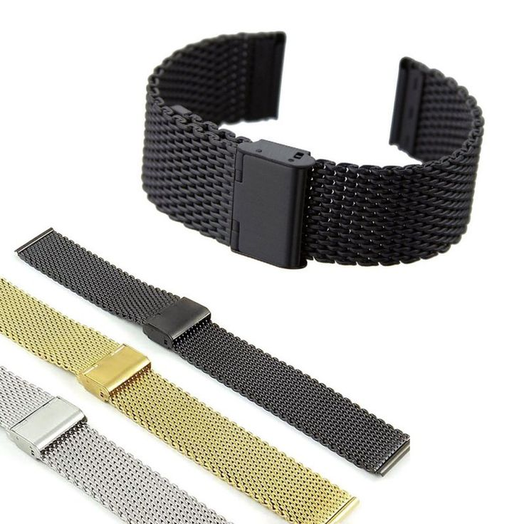 Strap Thin Mesh Stainless Steel Watch Band Metal Clasp Bracelet