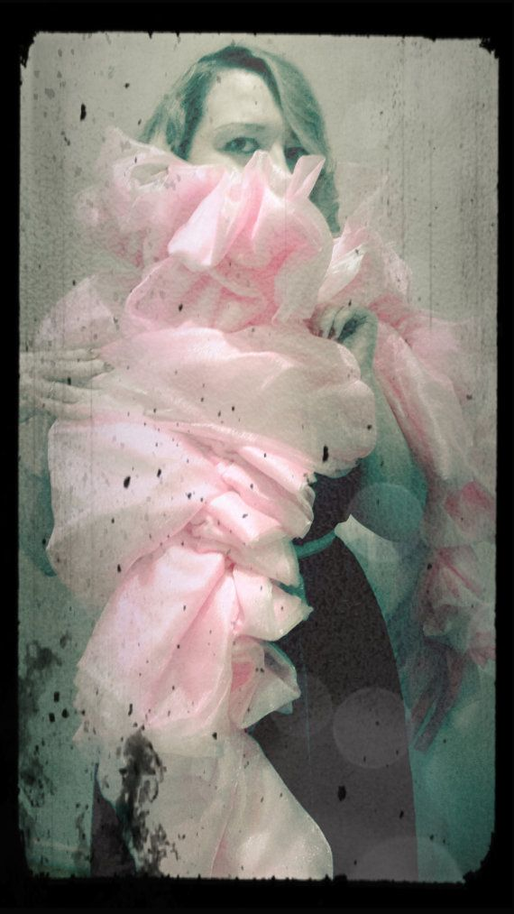 Shades of Pink: Pink Organza Boa by RoseVonSweet on Etsy