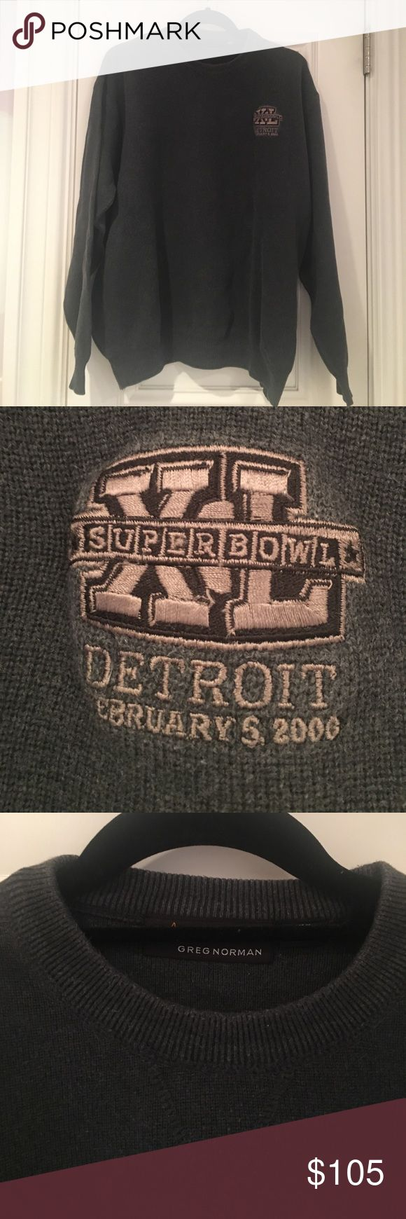 Super Bowl XL Sweater • 2006 • Steelers champions Charcoal gray. Excellent condition. Sweaters