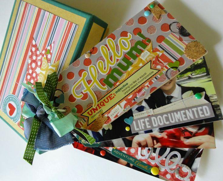 Mother's Day Mini Album by Lauren Matthews, using Polly! Scrap Kits April 2014 scrap kit #pollyscrap #scrapbooking #minialbum