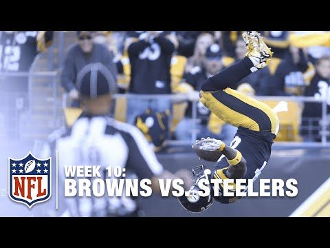 Antonio Brown's Amazing Front-Flip After a 56-Yard TD Catch! | Browns vs. Steelers | NFL - YouTube