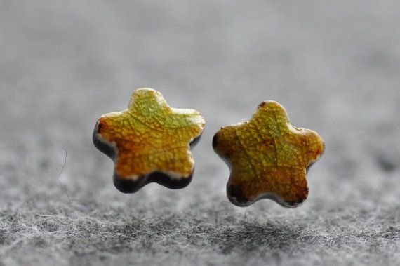 Studs  earrings ceramic earrings hand made ready to by zolanna