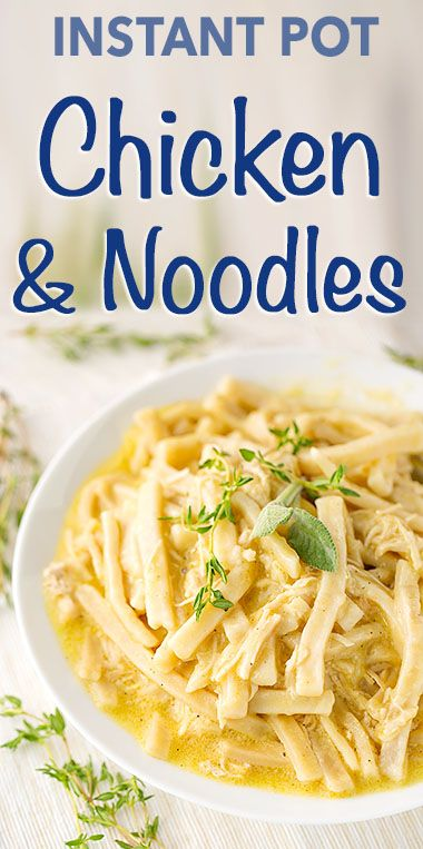 Instant Pot Chicken Noodles is a comforting meal the whole family will enjoy. Us…