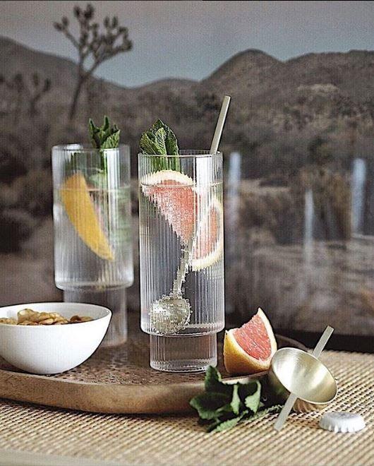 Styling Challenge: Ferm Living's Ripple Glasses at Rose & Grey | Mid  century modern interiors, Modern cabin interior, Kitchen shop