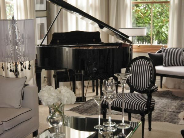 High Quality Andrewl: Monochrome Inc Interior Design   Living Room Featuring Baby Grand  Piano   Motif Chair . Phil S Board His Pins His Comments Doesn T Need Hi ...
