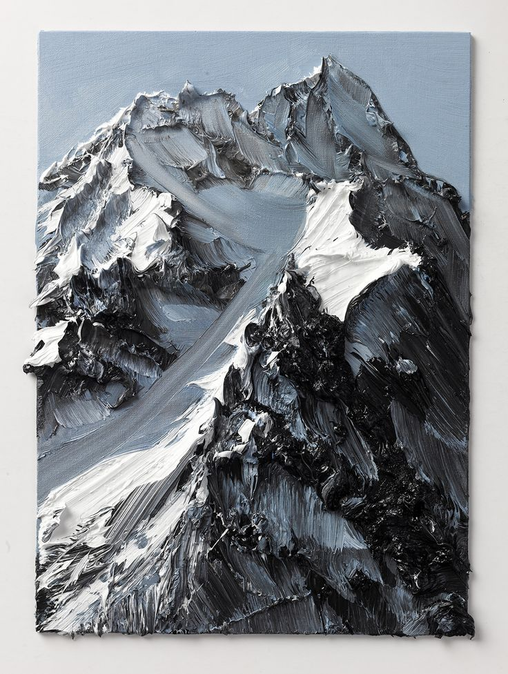 Conrad Jon Godly's Abstract Mountains Drip from the Canvas