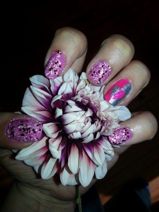 #Nail #Esmalte #Polish #Uñas #Nice #Polish #Brillos #SanValentin #Valentine'sDay