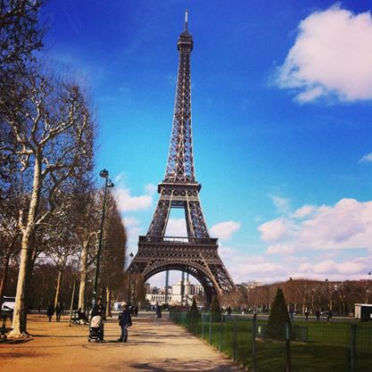 """Forever missing this city. Every 7 years, 60 tonnes of """"Eiffel Brown"""" paint, in 3 different shades, is used to paint the tower because if it  was painted all 1 colour the levels would look different."""