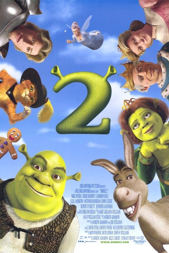 Shrek 2 (2004): Princess Fiona's parents invite her and Shrek to dinner to celebrate her marriage. If only they knew the newlyweds were both ogres #movie