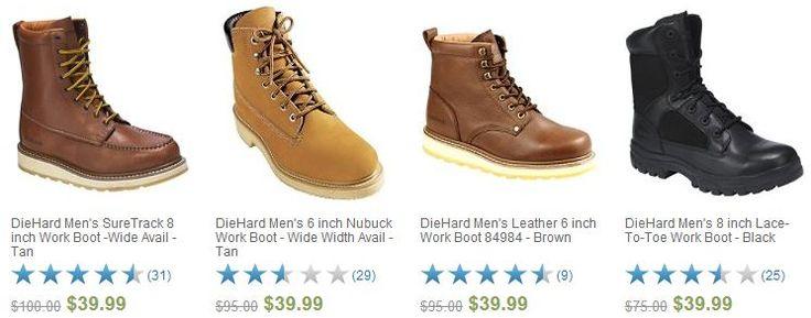 HOT* DieHard Work Boots $39.99   FREE Store Pickup! {Reg. $100 ...
