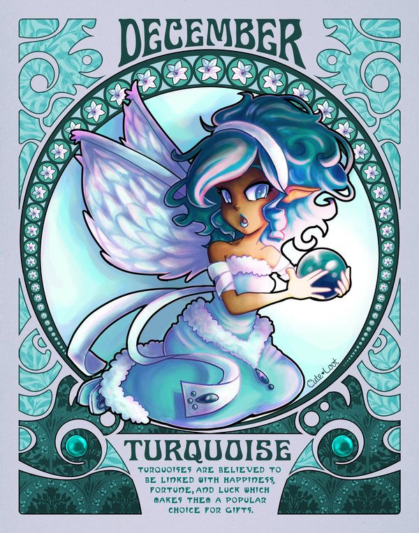 Birthstones Nouveau - December by cute-loot.deviantart.com on @deviantART
