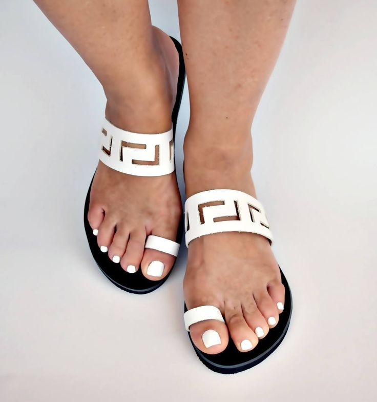 meander sandals,ancient greek sandals,leather sandals,womens shoes,greek sandals,handmade sandals,gifts,sandals,womens sandals,silver shoes by FEDRAinspirations on Etsy