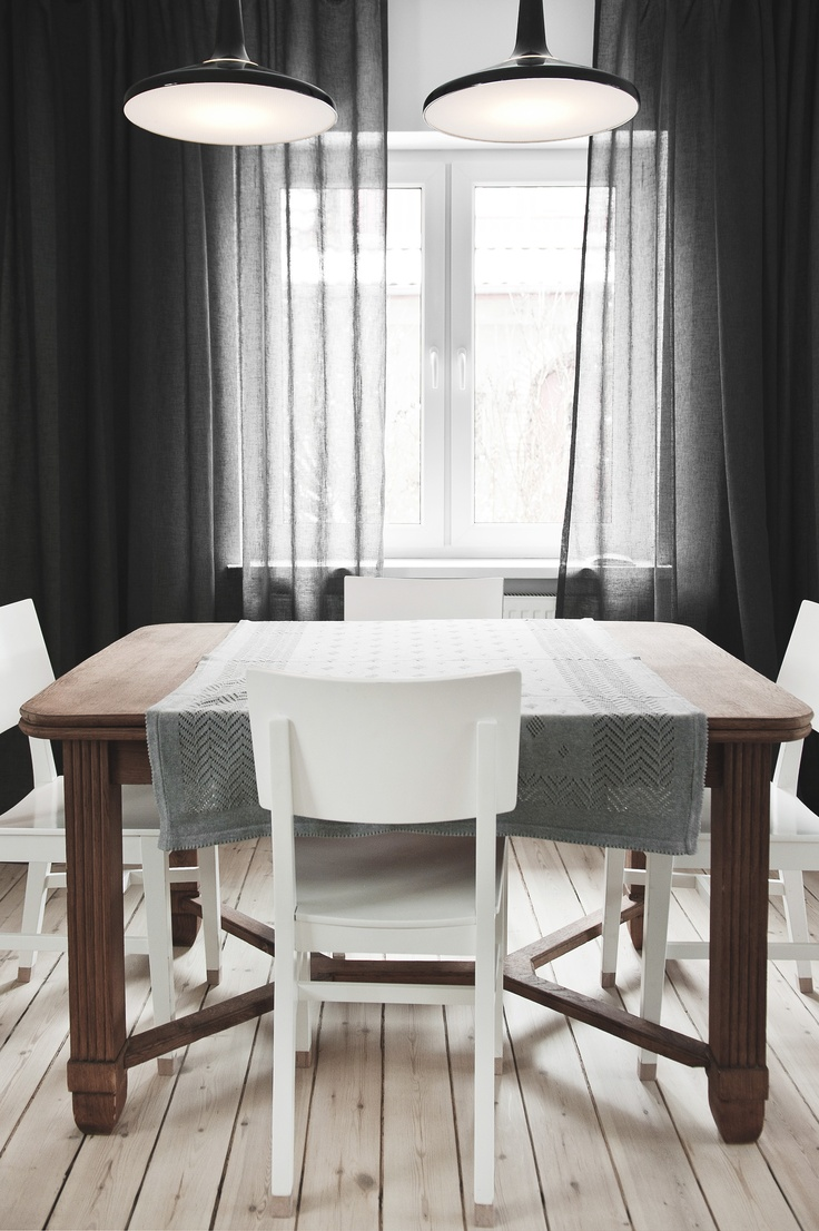 © stylus.pl   #home #inspiration #curtain #decor #dining room