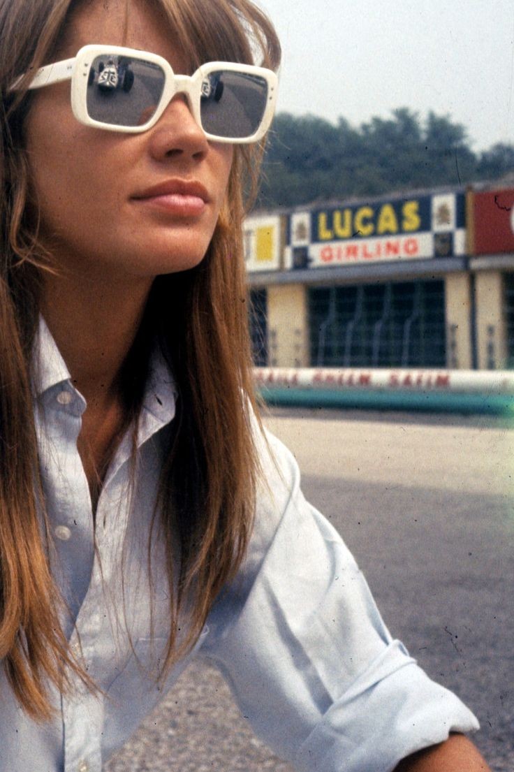 Françoise Hardy in white sunnies.