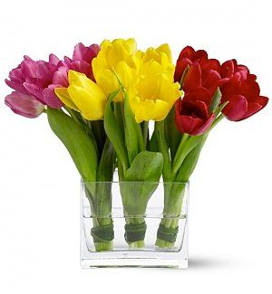 12 best easter gifts images on pinterest bouquets corporate fresh tulip trio easter flower basket in perfect season right now three bouquets of negle Image collections