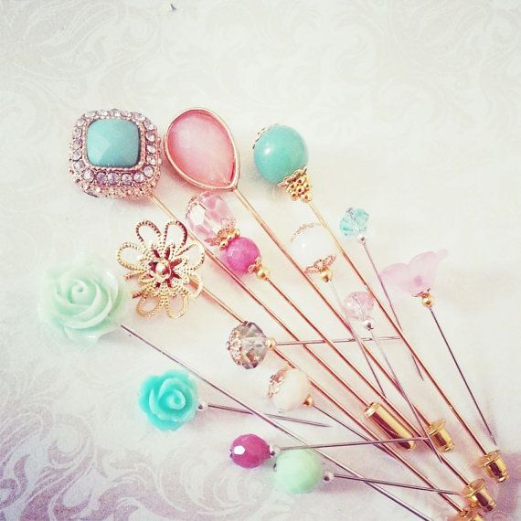 Peppermint Pink New Collection of Hijab Pins / Hat Pins / Cushion Pins / Sewing Pins