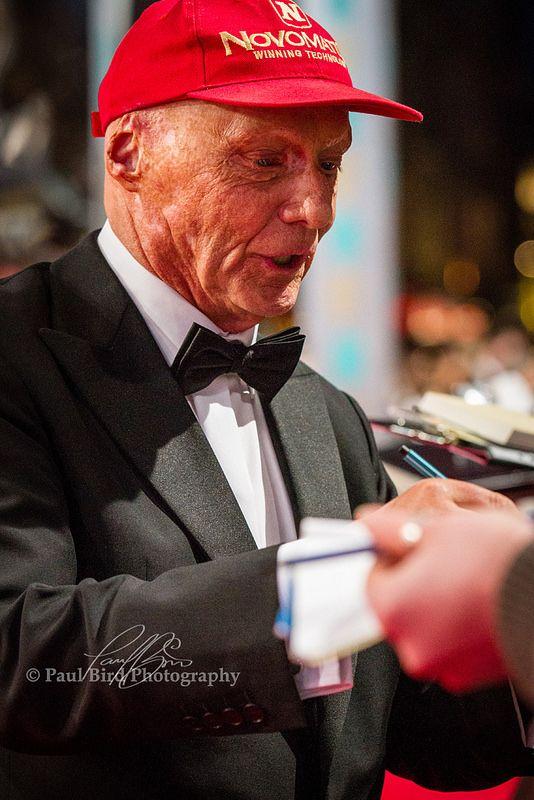 Niki Lauda at the BAFTA Film Awards 2014, Covent Garden, London UK.