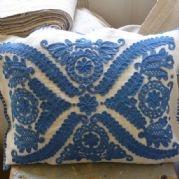 Hand embroidered Kalotaszeg cushion