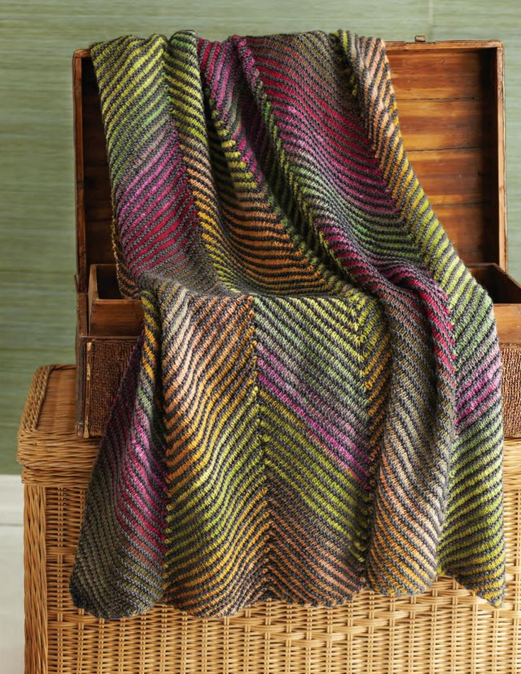 Craft This Chic Bohemian Knitted Blanket Ideal For Festival Season