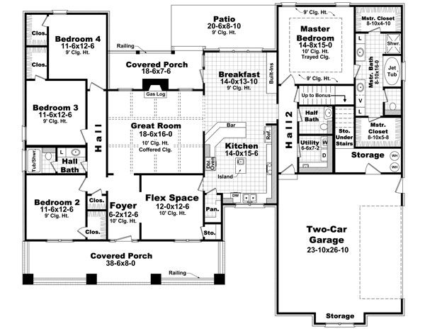 207 Best images about House Plans – 4 Bedroom Plans