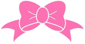 Hot Pink Bow clip art - vector clip art online, royalty free & public domain