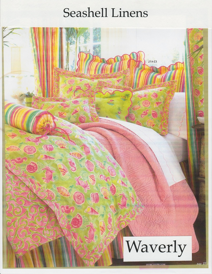 Bedding for Waverly in Horchow Catalog