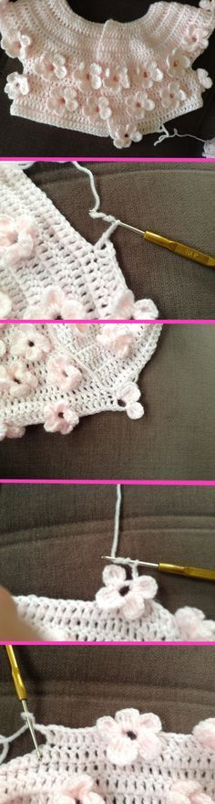 crochet pattern cardigan floral for baby