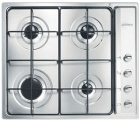 Smeg hob SE64SNX3 - the speed and heat of LPG gas