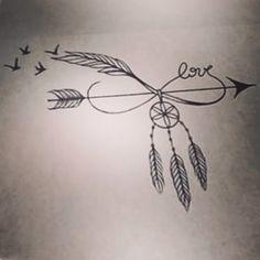 #tattoo #idea #ancor #creative #idian #piume #acchiappasogni #arrow #freccia #rondini #infinito #tattoogirl #sexytatto #girl #tattoed #love #passion #life