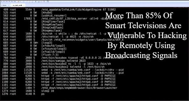 More Than 85% Of Smart Televisions Are Vulnerable To Hacking By Remotely Using Broadcasting Signals  http://www.2020techblog.com/2017/04/more-than-85-of-smart-televisions-are.html    #technews