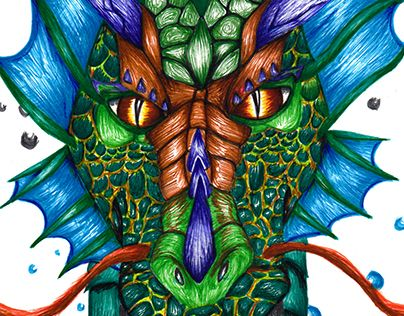 "Check out new work on my @Behance portfolio: ""Aquatic Dragon"" http://be.net/gallery/38154351/Aquatic-Dragon"